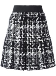 Dolce And Gabbana Boucle Knit Skirt Black