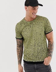 Ringspun Laval Crew Neck T Shirt In Green