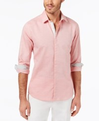 Ryan Seacrest Distinction Men's Slim Fit Heathered Sport Shirt Created For Macy's Pink Heather