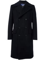 Junya Watanabe Comme Des Garcons Man Long Double Breasted Coat Black