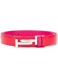 Tod's Double T Belt Red