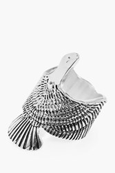 Boohoo American Eagle Statement Vintage Ring Silver