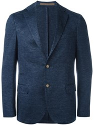 Eleventy Flap Pockets Blazer Blue