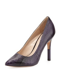 Pour La Victoire Camrin Watersnake Dress Pump Plum