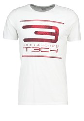 Jack And Jones Tech Jjtmusthave Sports Shirt White Poinsetta
