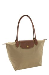 Longchamp 'Small Le Pliage' Shoulder Bag Beige