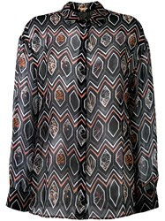 Giambattista Valli Geometric Print Shirt Black