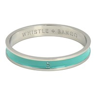Whistle And Bango X27 S' Alphabet Bangle Mint Silver
