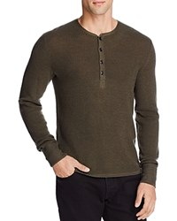 Rag And Bone Giles Merino Wool Henley Army Green