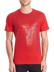 Versace Foil Medusa T Shirt Red Black