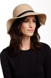 Free Press Round Crown Wool Felt Floppy Hat Beige