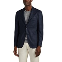 Kiton Kb Wool Blend Two Button Sportcoat Navy