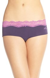 Women's Dkny 'Downtown' Lace Trim Cotton Hipster Briefs 3 For 30