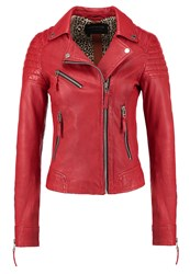 Oakwood Leather Jacket Fire Red