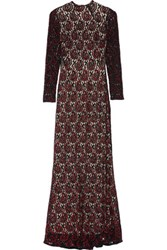 Alice Olivia Cori Embellished Lace Gown Black