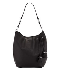 Botkier Kenna Leather Shoulder Hobo Bag Black