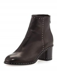 Rag And Bone Willow Studded Leather Ankle Boot Black