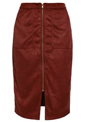 Evans Pencil Skirt Red
