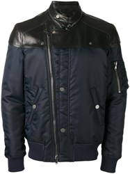 Diesel Zip Up Biker Jackets Blue