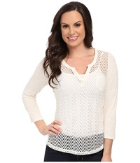 Ariat Cheryl Top Whisper White Women's Long Sleeve Pullover