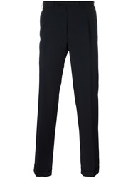 Canali Pleated Tailored Trousers Blue