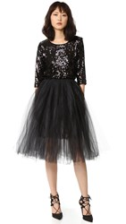 Loyd Ford Sequin Dress With Tulle Black