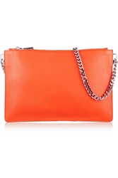 Jil Sander Textured Leather Clutch Orange