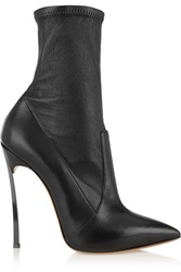 Casadei Leather Pointed Toe Ankle Boots