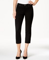 Charter Club Petite Bristol Black Wash Capri Jeans Only At Macy's Saturated Black
