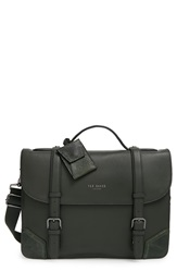 Ted Baker Leather Briefcase Green