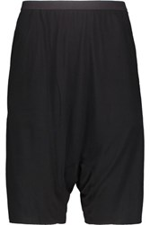 Rick Owens Lilies Stretch Jersey Shorts Black