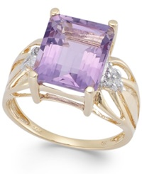 Macy's Pink Amethyst 5 1 2 Ct. T.W. And Diamond Accent Ring In 14K Gold