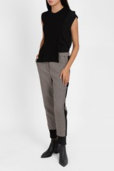 3.1 Phillip Lim Houndstooth Jogger Trousers Brown