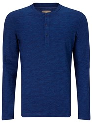 John Lewis And Co. Slub Cotton Grandad Top New Indigo
