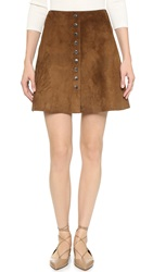 Jill Stuart Zoe Suede Skirt Fig