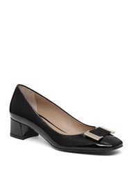 Delman Pasha Patent Leather Pumps Black