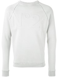 N 21 No21 Logo Sweatshirt Grey