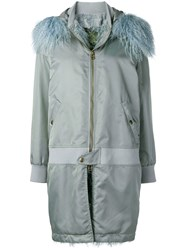 Mr And Mrs Italy Waterproof Zipped Coat Blue