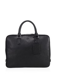 Giorgio Armani Leather Briefcase Bag Black