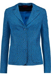 Missoni Metallic Crochet Knit Blazer