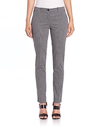Michael Kors Diamond Print Skinny Pants Black White