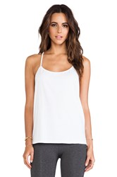 Solow So Low A Line Racerback Tank White