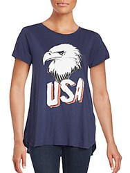 Wildfox Couture Printed Cotton Tee Oxford