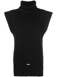 Alexander Mcqueen Roll Neck Knit Top Black