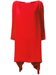 Gianluca Capannolo Draped Dress Red