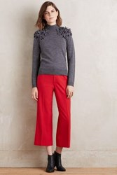 Anthropologie Chancellor Cropped Trousers Red