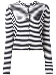 Dorothee Schumacher Striped Cardigan Blue
