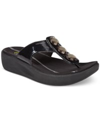Easy Spirit Bejewel Flip Flop Sandals Women's Shoes Black