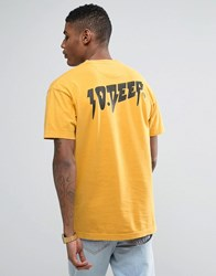 10.Deep 10 Deep T Shirt With Back Print Yellow