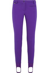 Fendi Tech Jersey Ski Leggings Purple